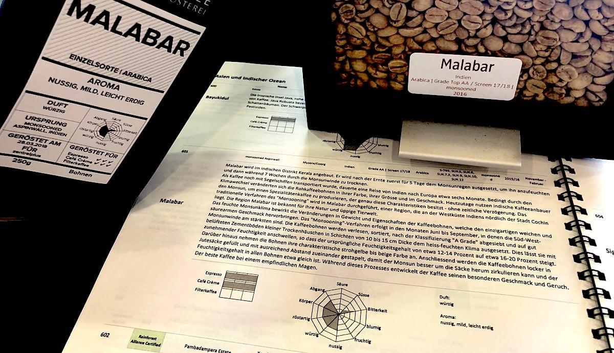 Detaillierte Informationen: Die Kundschaft von Rast Kaffee kann sich ins Metier vertiefen.