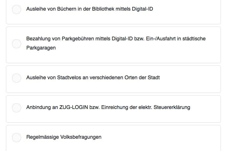 Die nächsten möglichen Anwendungen für die Zuger Digital-ID.