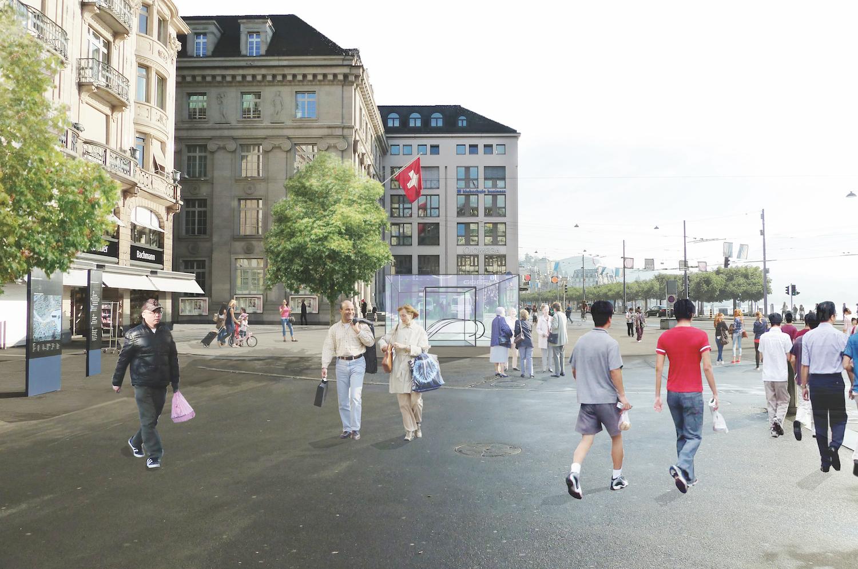 So soll der Eingang zur Metro am Schwanenplatz aussehen.