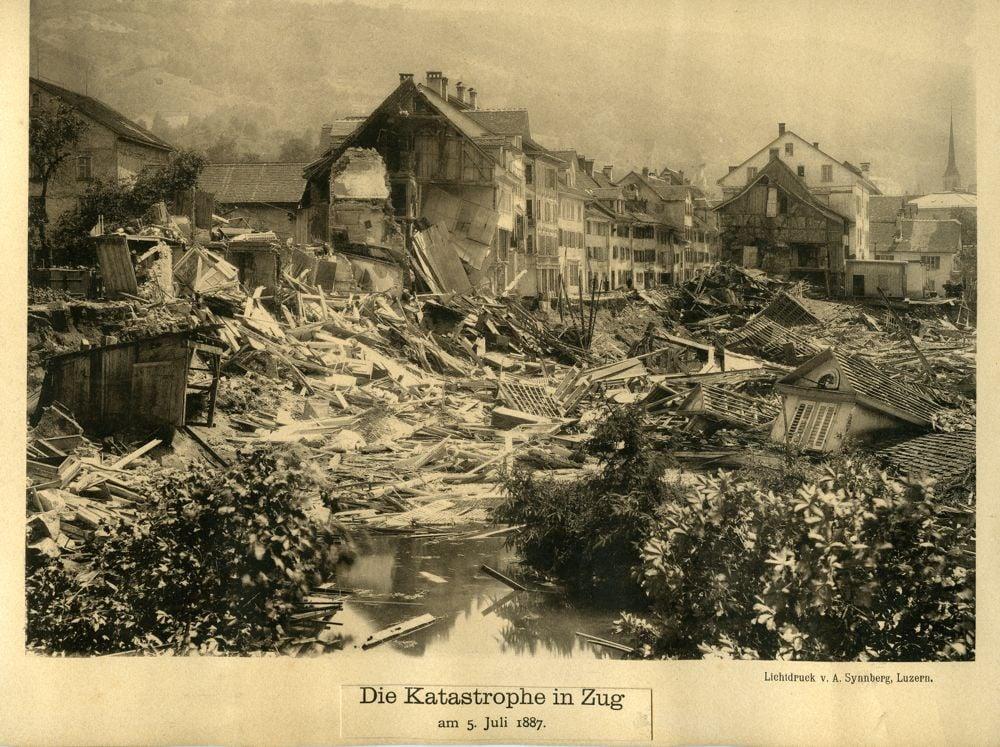 Die Zuger Vorstadtkatastrophe im Jahre 1887.