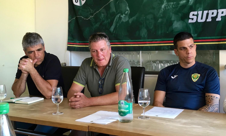 Die Verantwortlichen des SC Kriens. Von links: Präsident Werner Baumgartner, Sportchef Bruno Galliker und Trainer Bruno Berner.