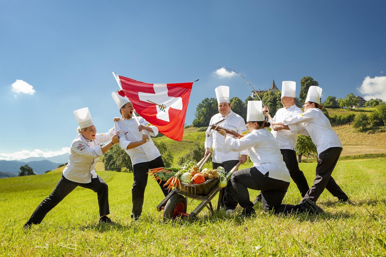 Das offizielle Teamfoto der Schweizer Delegation.