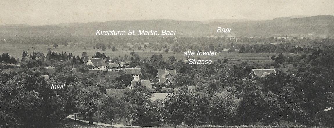Wie ein gallisches Dorf im Baarer «Outback»: Inwil. Im Hintergrund schimmert der Kirchturm von St. Martin.