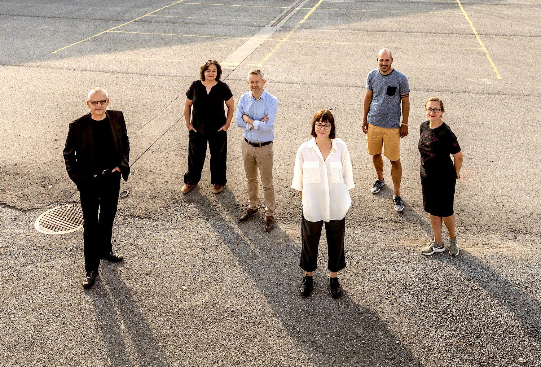 erein Platzhalter Seetelplatz (von links): Ralph Eichenberger, Catherine Huth, Thomas Stadelmann, Francesca Blachnik, Reto Achermann und Edina Kurjakovic.