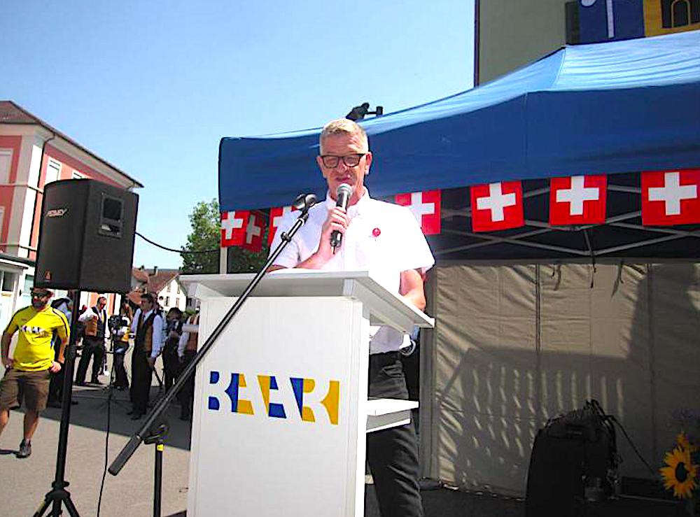 Letztes Jahr war Charly Keiser von der «Zuger Zeitung» der 1. August-Redner in Baar.