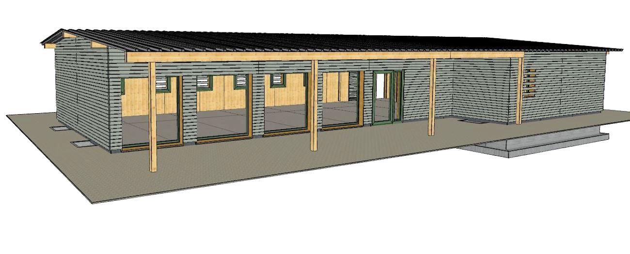 So soll der Holz-Fertigbau des neuen «Centro Español» des Chamer Architekten Alberto Casco aussehen.