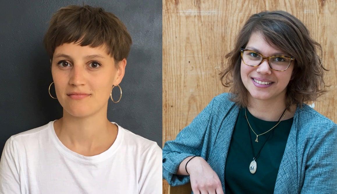 Die beiden Künstlerinnen Klarissa Flückiger (rechts) und Mahtola Wittmer lancieren ein Kunstprojekt bei der Peterskapelle.