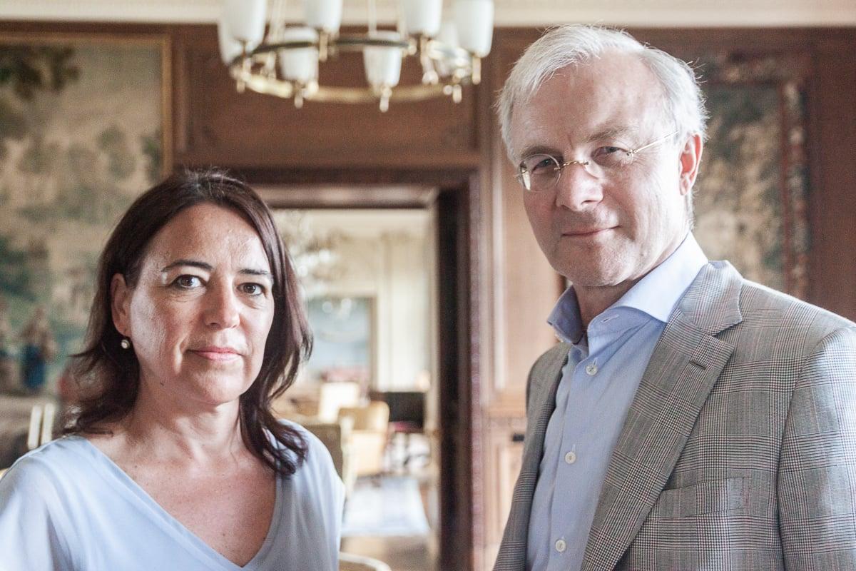 Geschäftsführerin Ursula Werner und Stiftungspräsident Bernhard Kobler.
