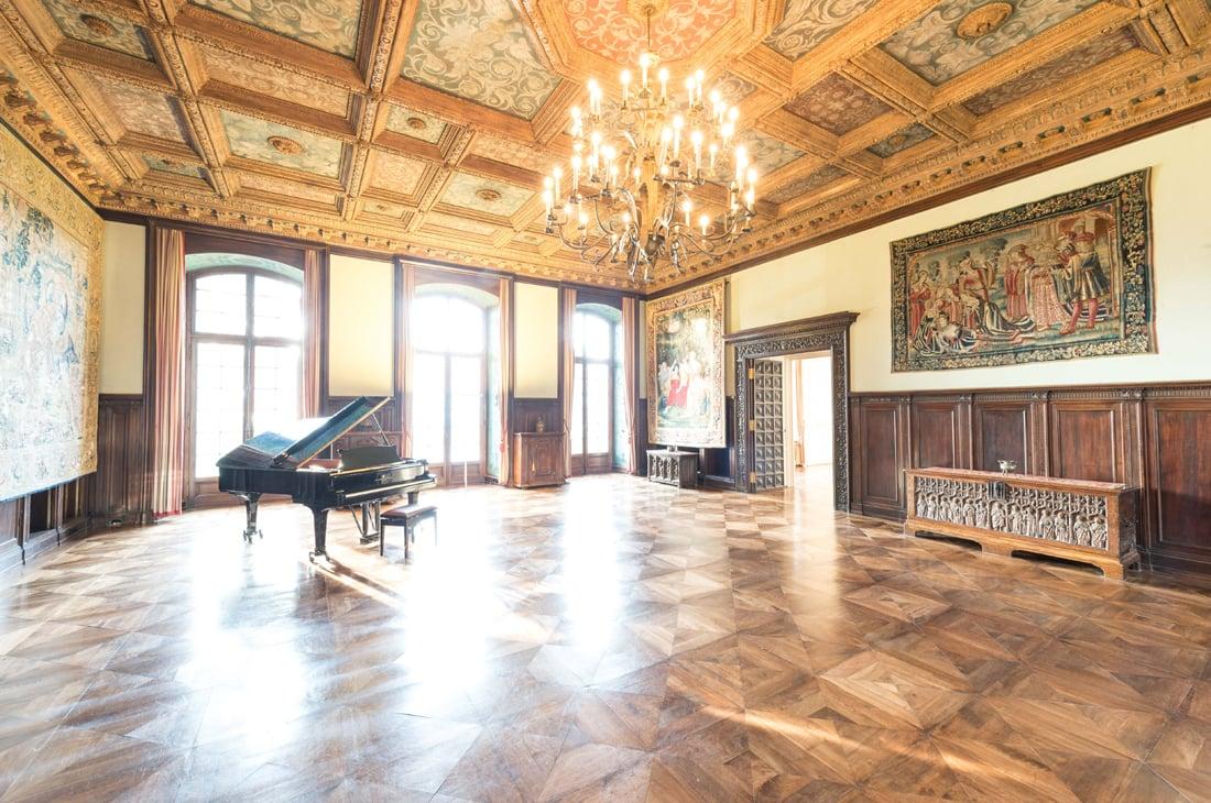 Der Rittersaal im Erdgeschoss von St. Charles Hall.