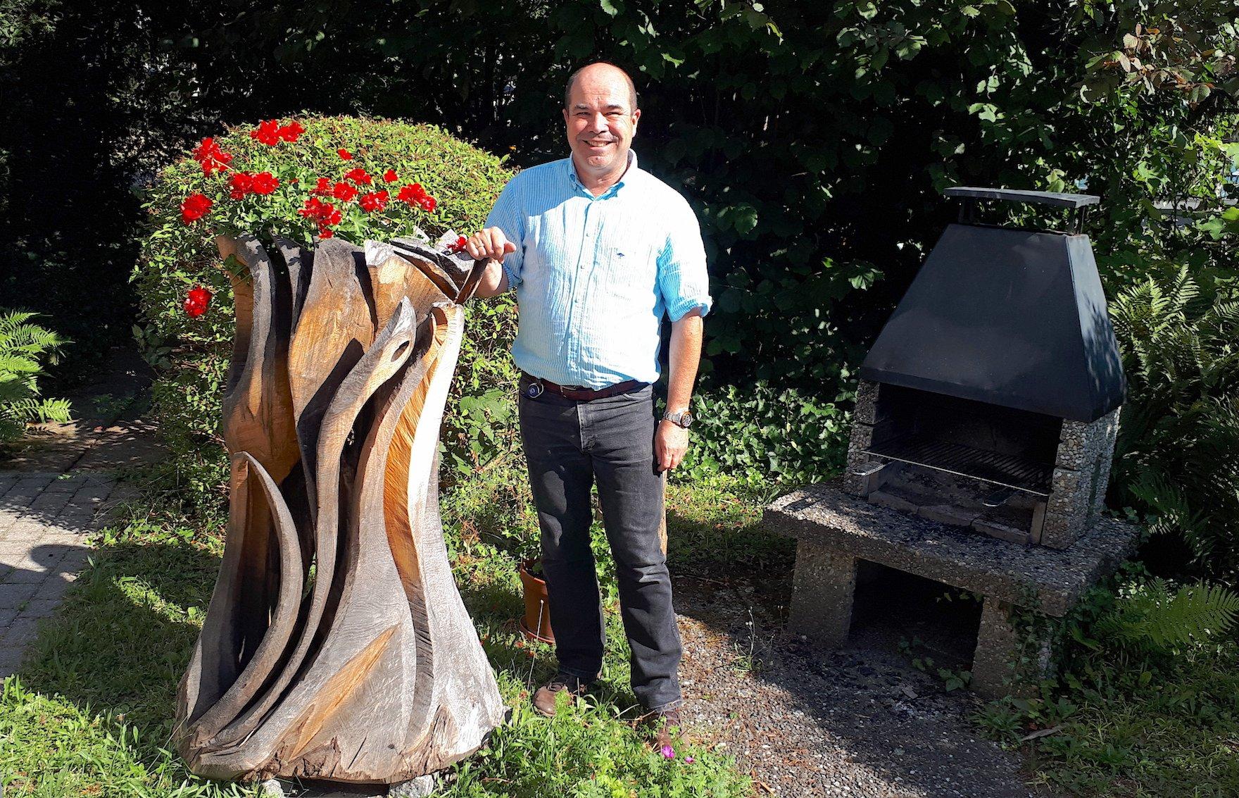 Charles Douw van der Krap ist Betriebsleiter in der Villa Hotz.