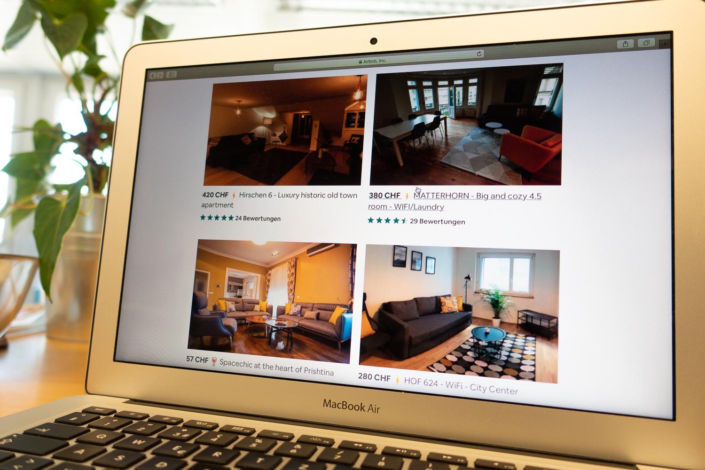 In Luzern stösst man auf einige kommerzielle Anbieter, die auf Airbnb mehrere Wohnungen anbieten.