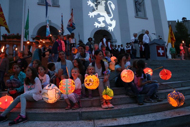 Die Bundesfeier in Sempach ist rege besucht.