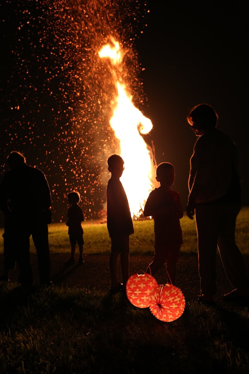 Am 1. August müssen die Feuer brennen.