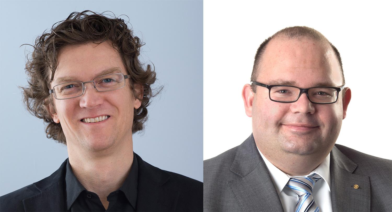 Cyrill Studer vom Mieterverband (links) – Armin Hartmann vom Hauseigentümerverband.
