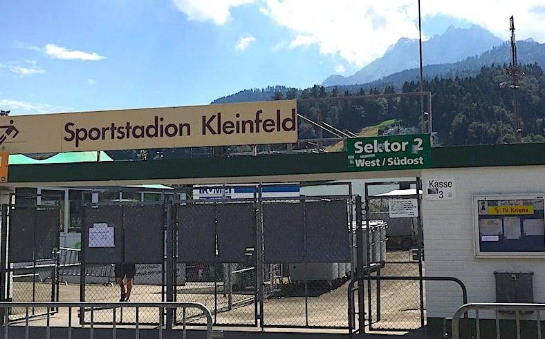 Schon jetzt legendär: das alte Stadion Kleinfeld.