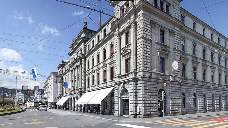 Der Schweizerhofquai – keine schlechte Adresse.