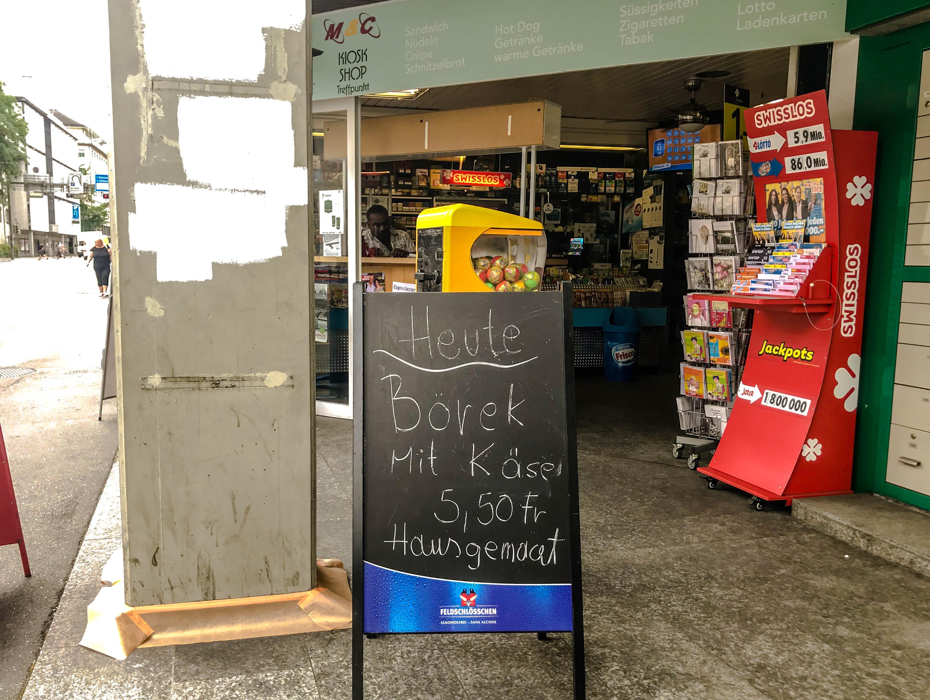 Hausgemachtes Börek – dieser Kiosk setzt auf Beizen-Feeling.