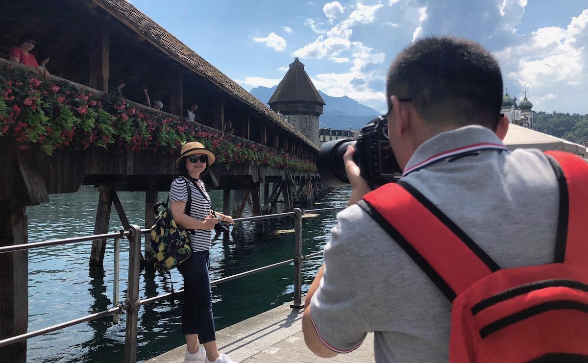 15'000mal am Tag überquert und von aller Welt besucht: Touristenmagnet Kapellbrücke.