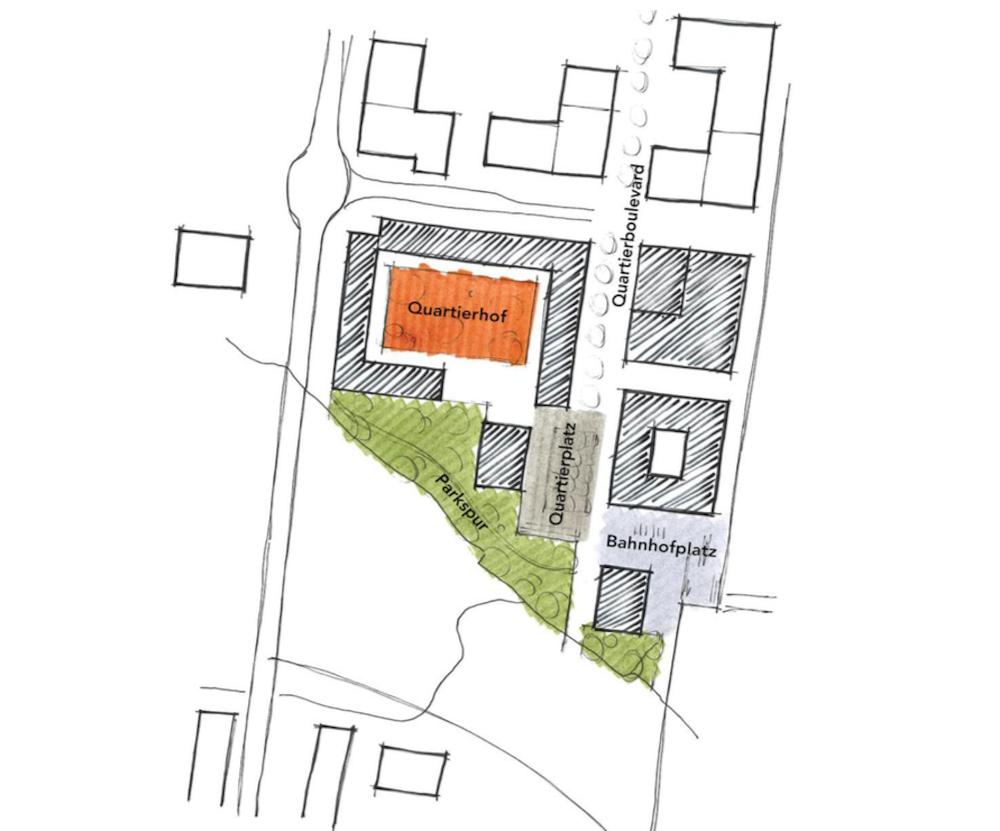 So sieht die neue städtebauliche Konzeption für das Baarer Unterfeld-Süd aus.