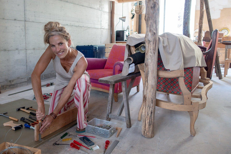 Petra Gerharz-Bezely eröffnet eine Polsterei in der Teiggi.
