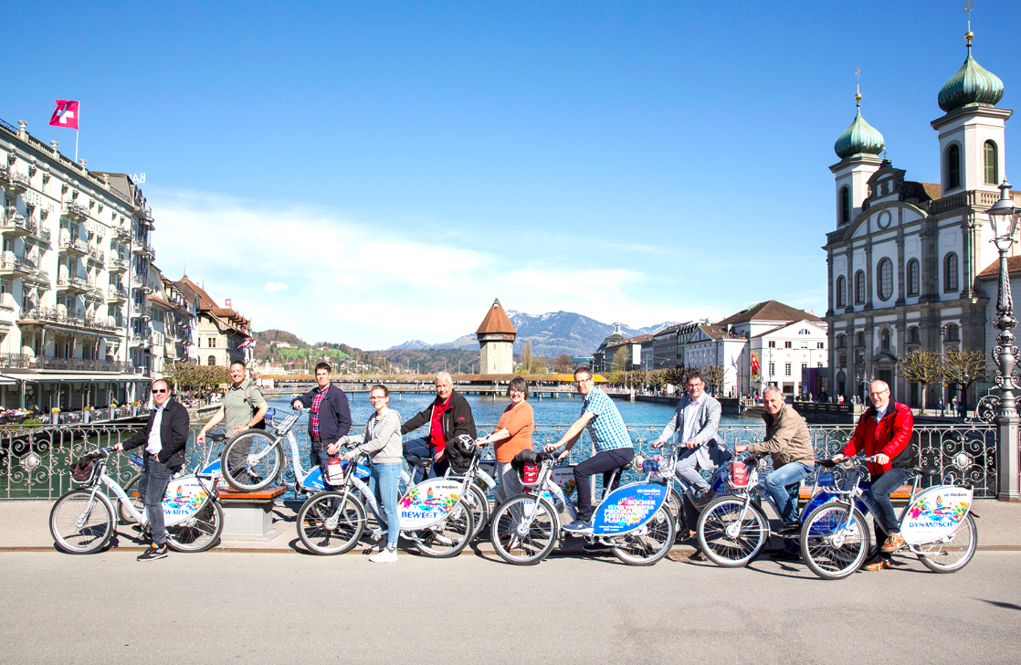 In Luzern gibt es schon ein funktionierendes Mietvelo-System mit nextbike.