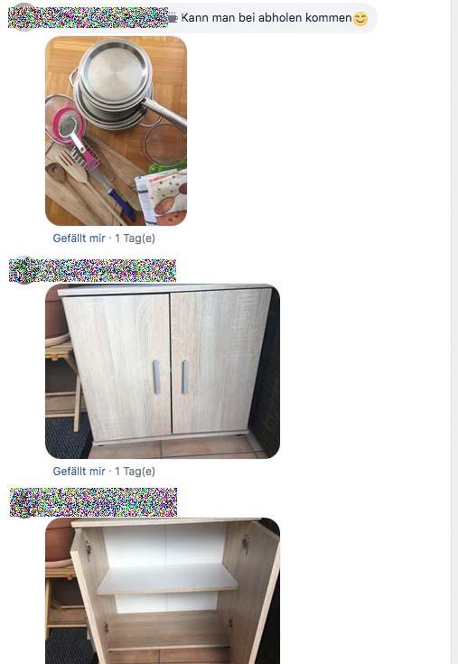 Möbel wurden gleich mit Bild angeboten.