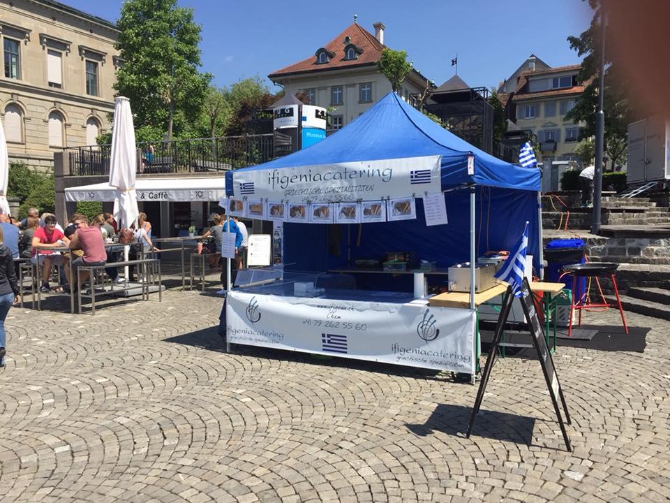 Der Ifigenia-Stand am diesjährigen Gluscht-Festival in Zug.