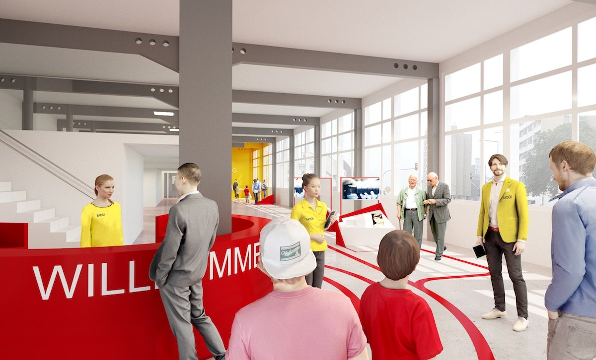 So könnte das Museum künftig aussehen. Besucher werden nah begleitet von Angstellten.
