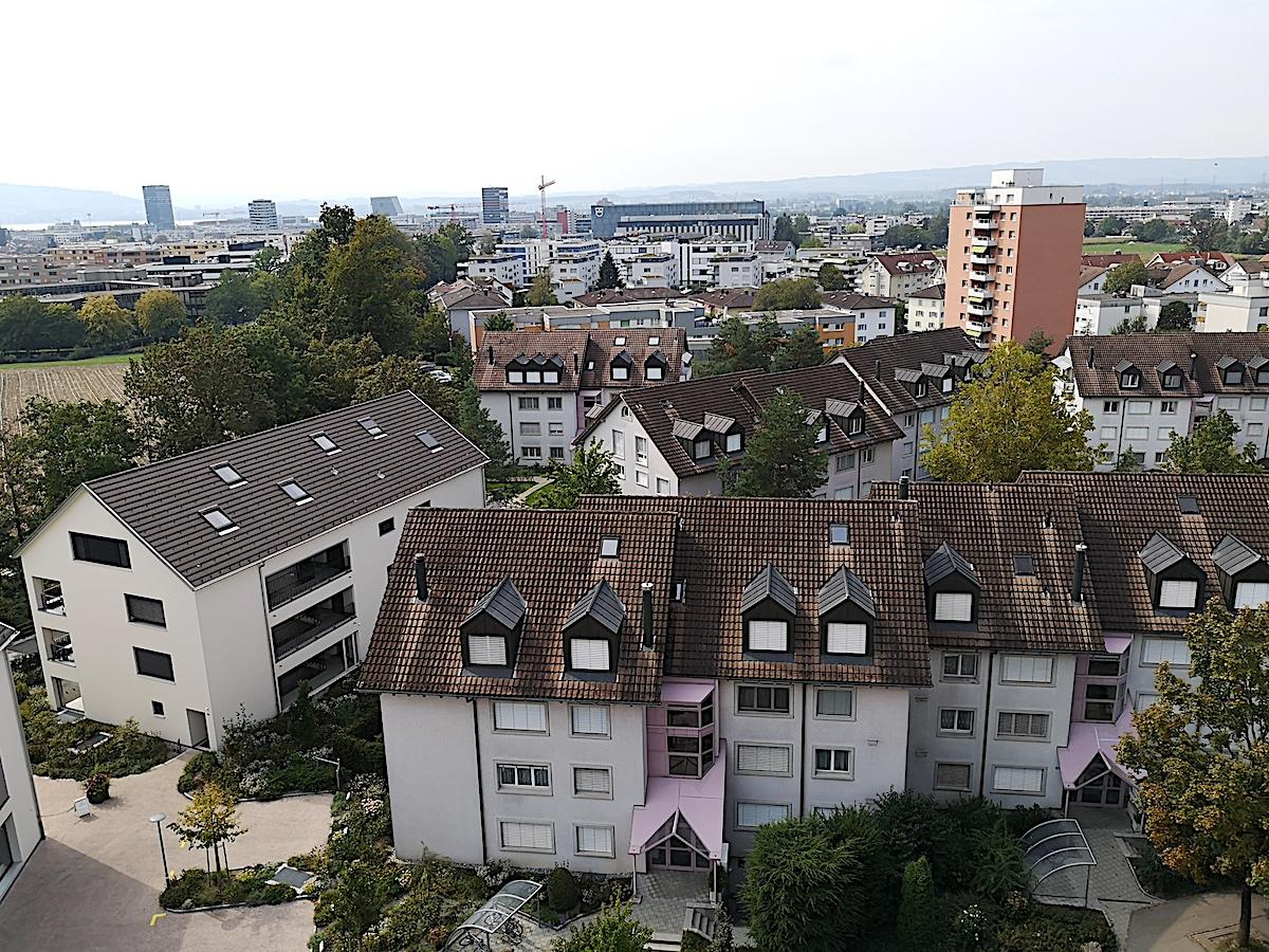 Zuger Panorama: die Aussicht aus dem neunten Stock.
