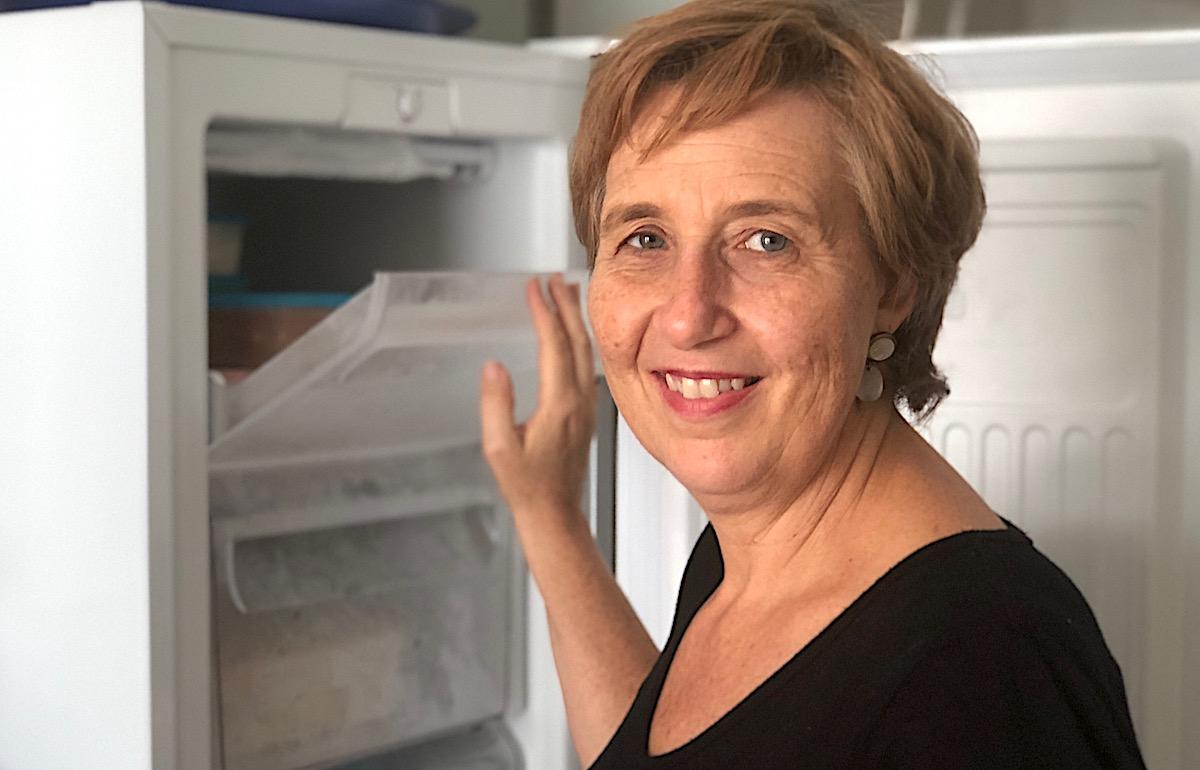 Vegetarische Ernährung: Janine Junker kauft Aktionen und friert sie ein.