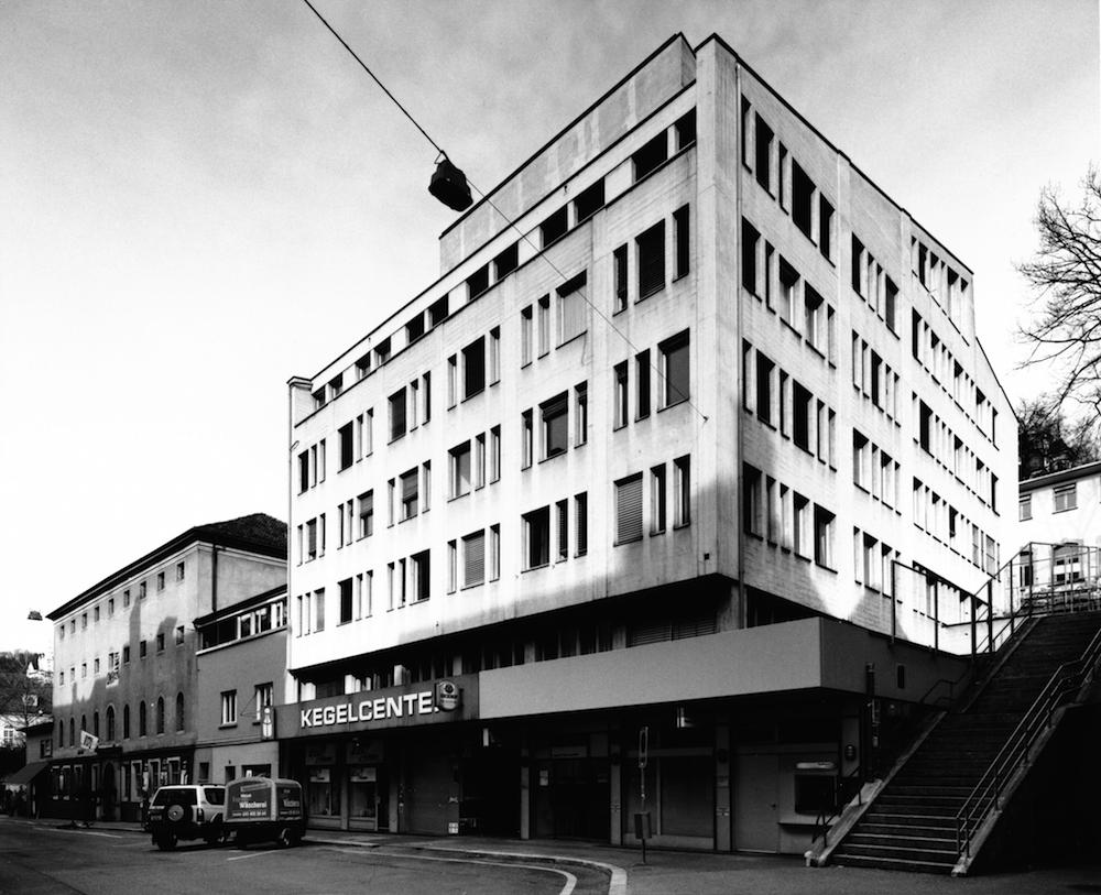 Geschäftshaus Grabenpost Luzern in einer Aufnahme von 2004 (Foto: Theres Bütler, Luzern)