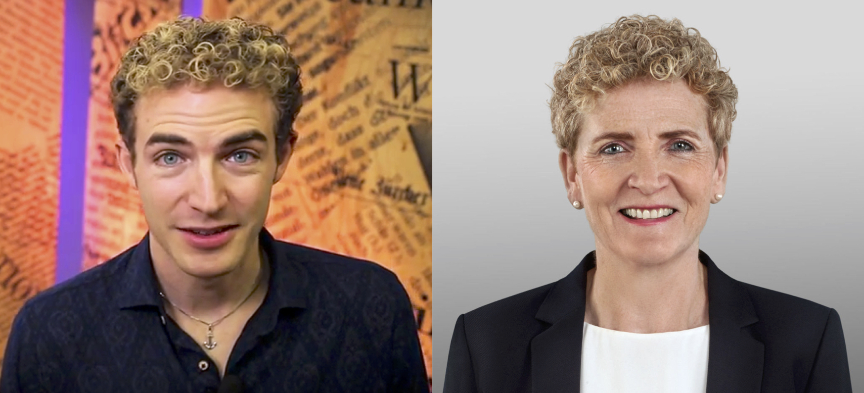 Michael Elsener und Monika Barmet, haben laut Elsener vermutlich den selben Coiffeur.