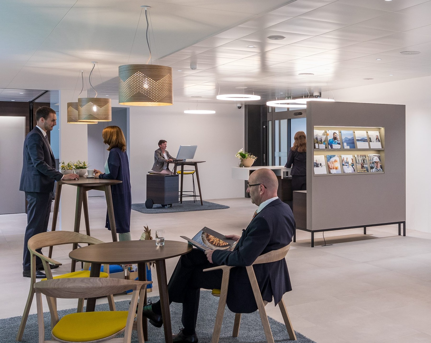 So ähnlich wird die neue Kundenhalle der LUKB in Sempach aussehen.
