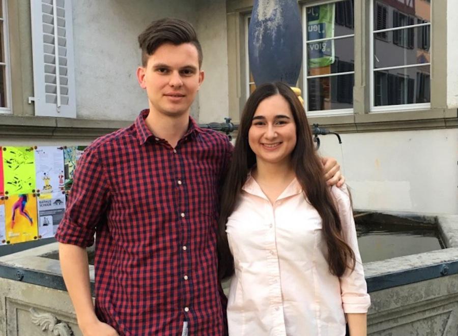 Das neue Co-Präsidium der Junge Alternative Zug (Konradin Franzini und Gurbetelli Yener).