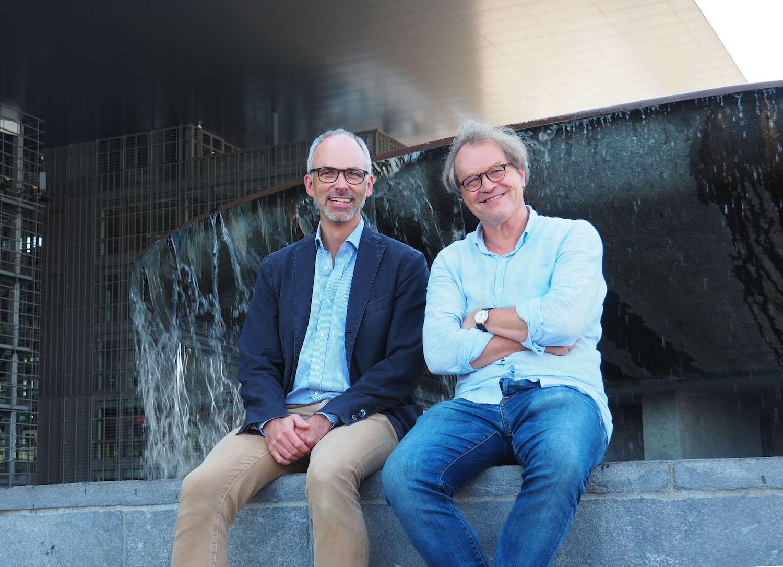 Vereinspräsident Andy Weymann (links) und Dirigent Ludwig Wicki.