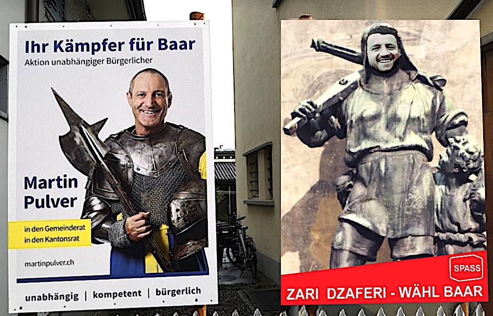 Wahlkommentar der anderen Art in Baar: Gessler oder Tell? Pulver oder Dzaferi?