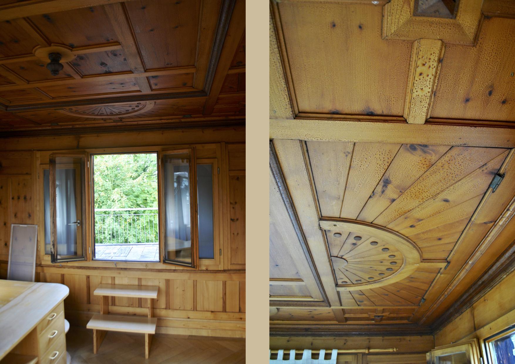 Das Turmzimmer des Alpinas und die Falltür darin.