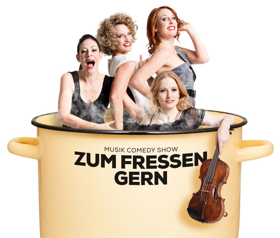 Die «Exfreundinnen (von links): Isabelle Flachsmann, Martina Lory, Anikó Donáth und vorne Musikerin Sonja Füchslin.
