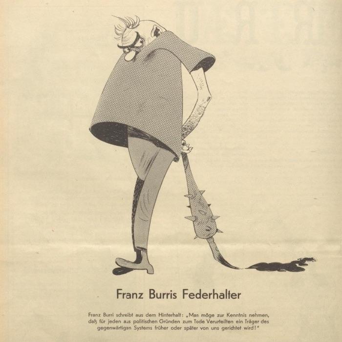 Karikatur aus dem «Nebelspalter» Band 68 (1942).