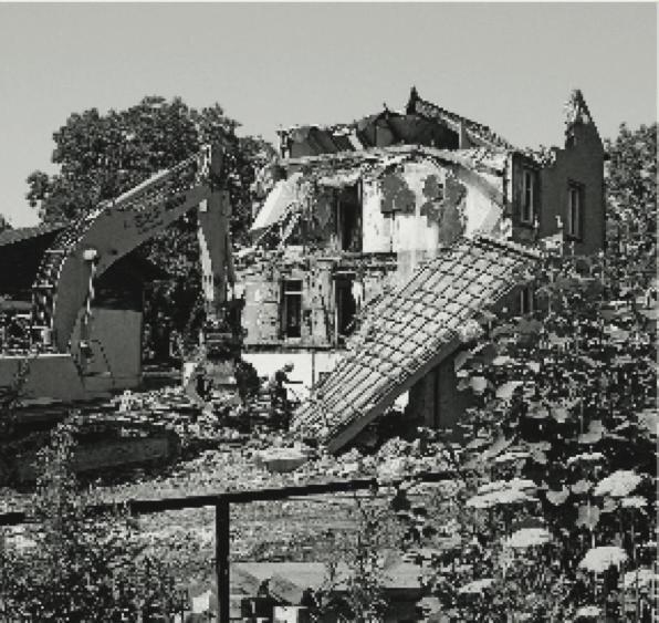 Abriss Haus Huwyler im Seehof, 2008