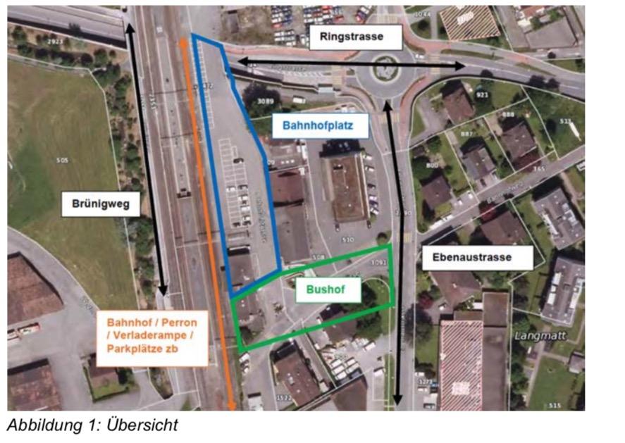 Die S-Bahn-Haltestelle Horw soll zu einem Umsteigeknoten des öffentlichen Verkehrs ausgebaut werden.