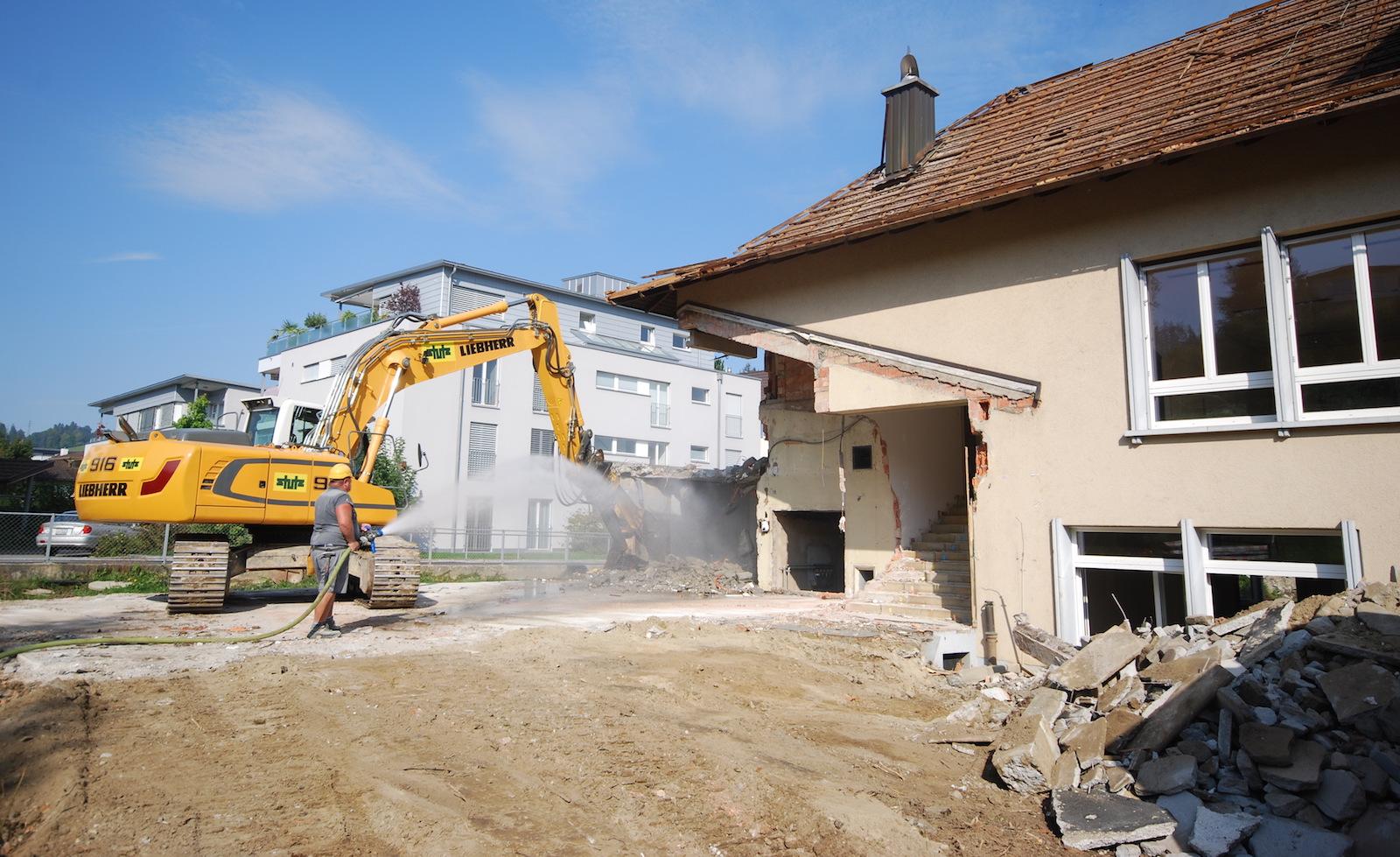 Das alte Pfarrheim in Willisau wurde kürzlich abgerissen – die Kirchgemeinde realisiert hier gemeinsam mit der Stadt und einem privaten Investor eine 38-Millionen-Überbauung.