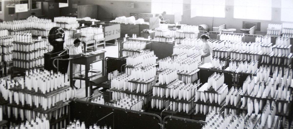 Die Garnproduktion in der Viscose beschäftige viele Arbeiterinnen aus Italien.