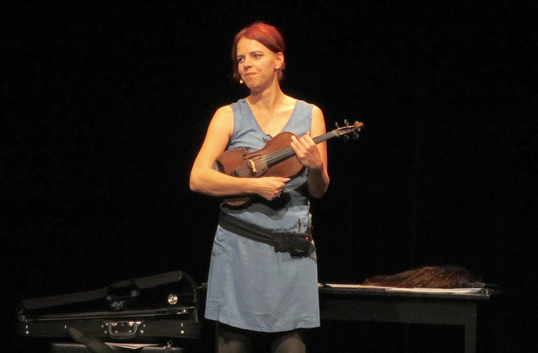 Auch die Geige kommt bei Uta Köbernick hin und wieder zum Einsatz.
