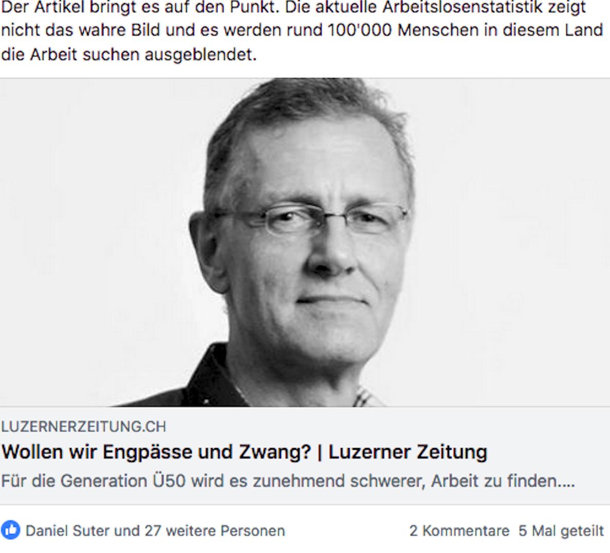 Befasst sich auch mit dem Altwerden: Thomas Bornhausers letzter Facebook-Post.
