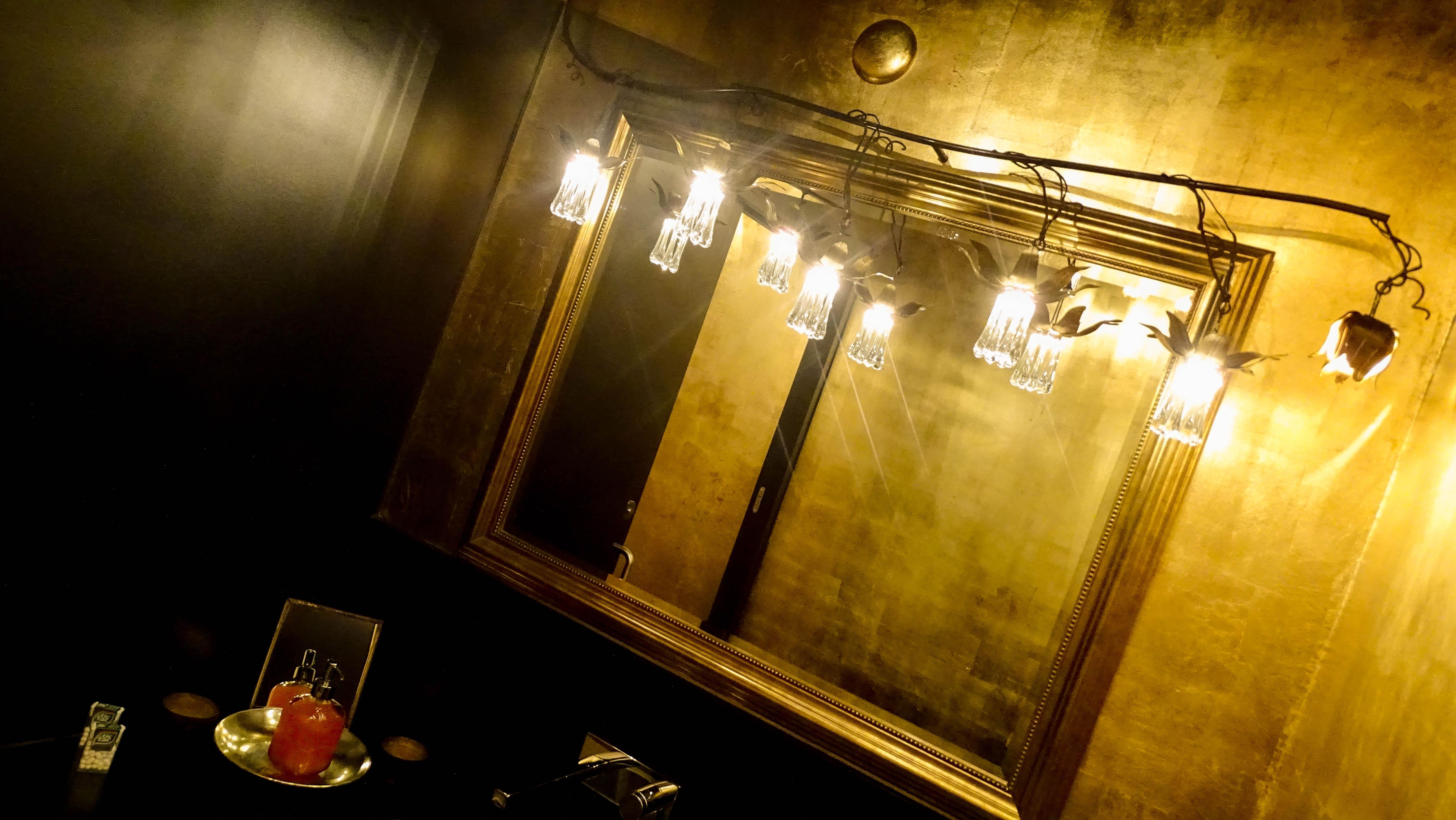 In der Toilette des Restaurants Felsenegg fühlt man sich wohl wie einst Louis XIV.