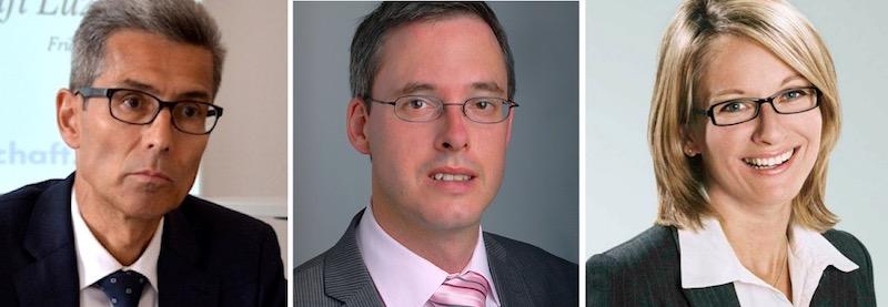 Oberstaatsanwalt Daniel Burri, Strafrechtsexperte Andreas Eicker und Mediensprecherin der Gerichte, Sandra Winterberg.