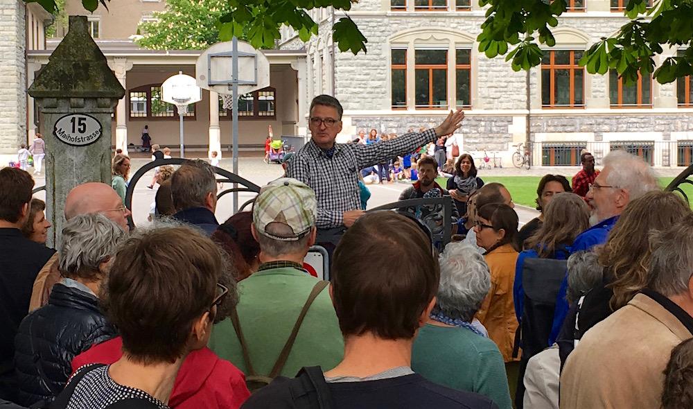Felix Kaufmann wehrt sich gegen die Spange Nord. Er fungiert als Ansprechperson der Gegenbewegung.