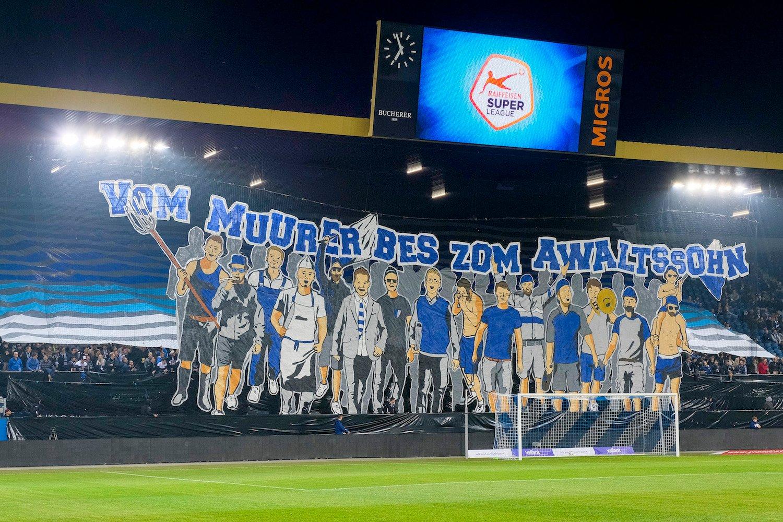 So stellen sich die Fans das vor: Aktion am Heimspiel gegen den FC Thun.