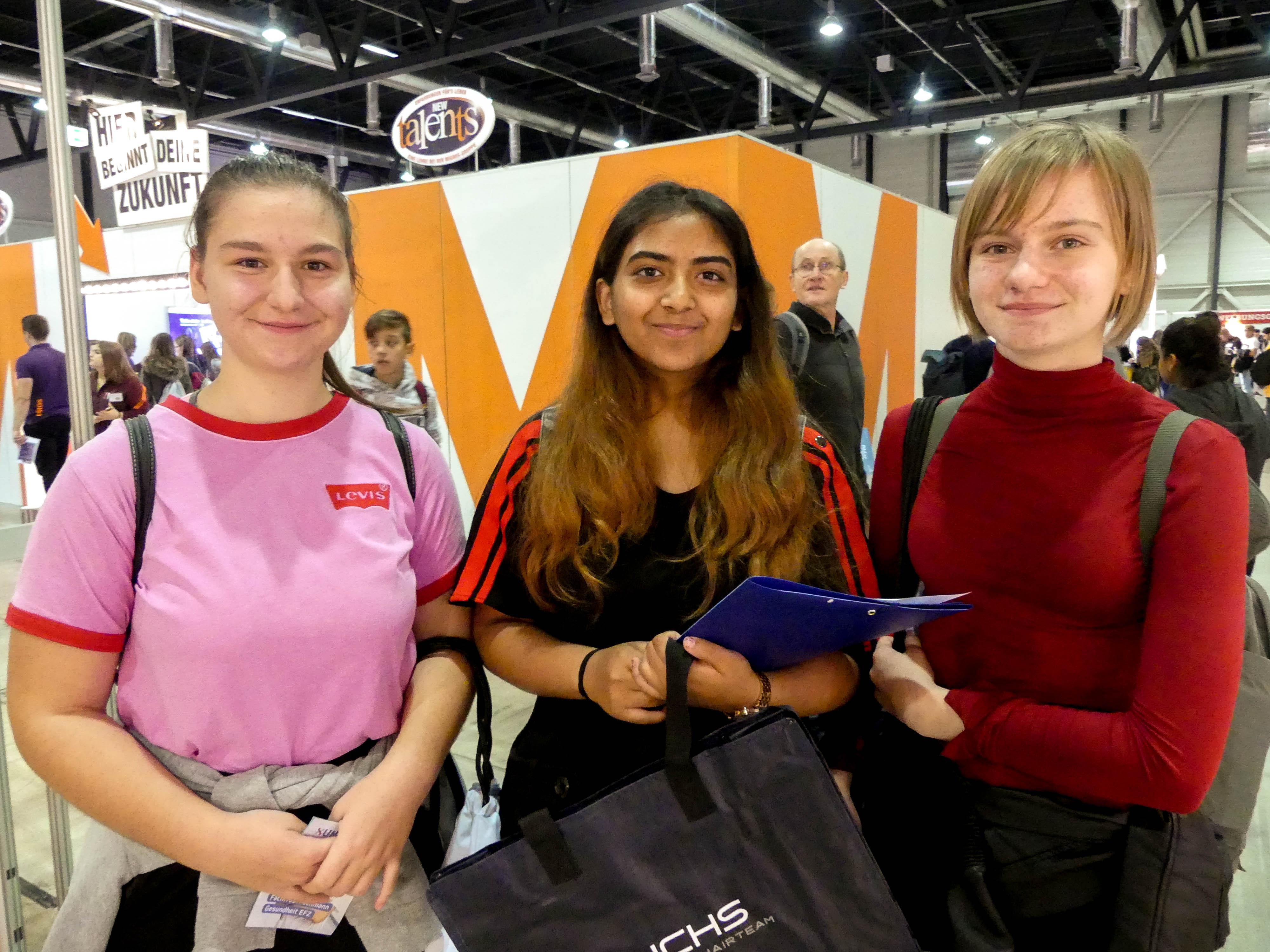 Jana, Sharuja und Aleksandra wissen, was sie einmal werden möchten.